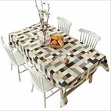 X&L Pastoral druckte Leinentischdecke Tischdecke Kaffeetischdecke für ein Familientreffen Restaurant , black , 140*180cm