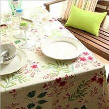 X&L Pastoral Leinwand Tischdecke Kaffeetischdecke Multituch Tuch Geeignet für Haushalt Restaurants Hotel Party , 140*220cm