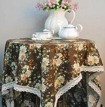 X&L Pastoral Peony Tischdecke Tischdecke Stoff für das Familientreffen Restaurant Restaurant , 90*90cm