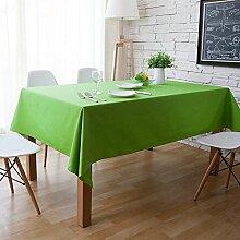 X&L Platz Stoff einfarbig rein pastoralen Obst grünen Tisch Tuch für Party-Hotel zu Hause Picknick Bankett , 90*140cm