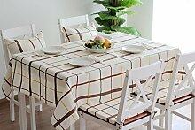 X&L Platz Tuch nach Hause Rechtecktisch Tetabellentuch Tischdecke für die Party-Hotel zu Hause Picknick Bankett , meters white , 140*180cm