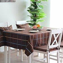 X&L Platz Tuch nach Hause Rechtecktisch Tetabellentuch Tischdecke für die Party-Hotel zu Hause Picknick Bankett , coffee color , 145*220cm