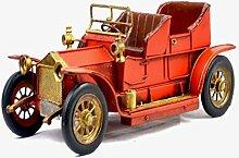 X&L Retro Eisen Auto-Modell / Fotografie Requisiten Heimtextilien Café-Bar Dekoration (32 * 14 * 14cm) , red , 32*14*14cm