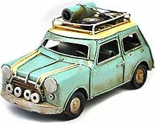 X&L Retro Eisen Auto-Modell zu Hause Geschenke Fotografie Requisiten Bar Schaufenster-Display (16 * 7 * 8.5cm) , green , 16*7*8.5cm