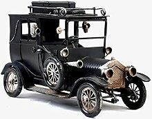 X&L Retro Eisen Auto-Modell zu Hause Geschenke Fotografie Requisiten Café-Bar Dekoration (25 * 10 * 16cm) , black , 25*10*16cm
