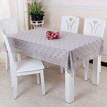 X&L Romantische Spitze Kaffeetischdecke Runde Tischtuch Staubtuch für Hotels home party Restaurant , b , 90*90cm