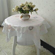 X&L Rosa Schnee Satin Satin Tischdecke Staub Tischdecke Bettschrank Abdeckung für die Party-Hotel zu Hause Picknick Bankett , pink , 150*150