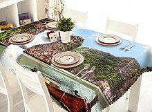 X&L Seascape digitale wasserdichte 3D-Tischdecke Matte Umwelt geschmacklos Staubtuch für Haushalt Hotel Bankett , 80*130