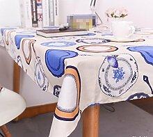 X&L Tischdecke blau Tischtuch Tischtuch wasserdicht Hotel Tischdecke Staubtuch Tischtuch , 90*90cm