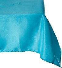 X LinenTablecloth (21,6x quadratisch Tischdecke, Polyester, Türkis