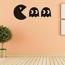 x Pac-Man Spiel Heimtextilien PVC Wandaufkleber