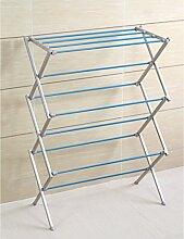 X-Typ Metallfarbe Landung Falten teleskopisch Handtuchhalter Trockengestelle Drinnen und draußen Trockengestelle ( Farbe : 2 )