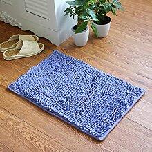 X&Y X&YChenille Teppich Halle Teppich Badezimmer Badezimmer Tür Türmatten Die Tür Rutschfest Fußpolster Bad Teppich , 50*80cm , lilac