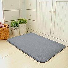 X&Y X&YDie Tür Zuhause Matten Türmatten Schlafzimmer Halle Wasseraufnahme Fußpolster Badezimmer Küche Rutschfest Teppich , 60*100cm , grey