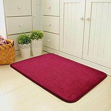 X&Y X&YDie Tür Zuhause Matten Türmatten Schlafzimmer Halle Wasseraufnahme Fußpolster Badezimmer Küche Rutschfest Teppich , 60*100cm , red