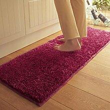 X&Y X&YPlüsch Wasseraufnahme Teppich Die Tür Küche Schlafzimmer Badezimmer Rutschfest Matten Türmatten Kleine Osmanen , 50*80cm , purple