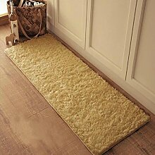 X&Y X&YPlüsch Wasseraufnahme Teppich Die Tür Küche Schlafzimmer Badezimmer Rutschfest Matten Türmatten Kleine Osmanen , 80*120cm , camel