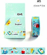 X1Z9B0 Klebeband1 X Cat Travel Series Washi