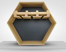 XAGB Wandbehang Kreatives Weinregal aus Holz,