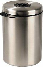Xavax Kaffeedose für 1 kg Kaffeebohnen (Tee, Kakao, Mit Aromaverschluss, Edelstahldose) silber