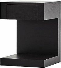 XBBZ Einfacher Moderner Schwarzer Beistelltisch