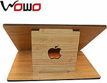 XBR flache tragbare computer kühler _ kreative bambus holz wohnung kühler klammer,weiße