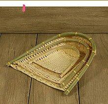 XBR Hand gewebter Bambus Crafts Bambus Korb Machen