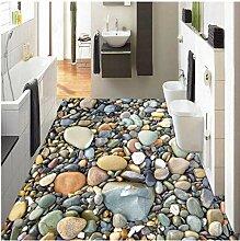 Xbwy 3D Stereo Stein Pebble Floor Wallpaper