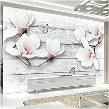 Xbwy Fototapete 3D Stereo Magnolie Blumen