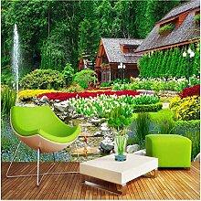 Xbwy Fototapete Villa Garten Natur Landschaft