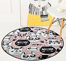 XCDT Teppich Runder Teppich Für Wohnzimmer Kinder