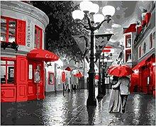 XCHJY DIY P regnerischen Acrylbild auf Leinwand,