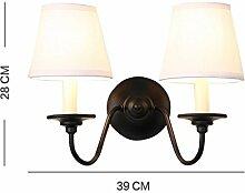 XCJ Wandleuchte Eisen Wandleuchte Innen Wohnzimmer Schlafzimmer Einfache Einzelne Moderne Einfache Tuch Lampe