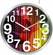 XcJJ European-Style Wohnzimmer Silent Clock / Creative Home Decoration-Schlafzimmer Wanduhr-U 12Inch,G,10 Zoll