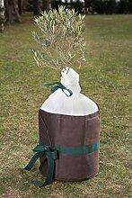 Xclou Pflanzenkübelschutz, Winterschutz, Pflanzenschutz, Wintervlies, Isolierfaser, ca. Ø 60 cm, H. 85 cm, braun