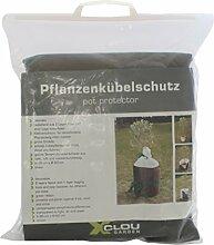Xclou Pflanzenkübelschutz, Winterschutz, Pflanzenschutz, Wintervlies, Isolierfaser, ca. Ø 45 cm, H. 45 cm, braun