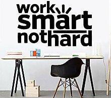 XCSJX Arbeit Smart Nicht hart Büroaufkleber