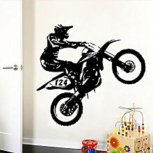 XCSJX Creative Motorcyclist Selbstklebende Vinyl