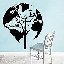XCSJX Erde Dschungel Muster Wandkunst Aufkleber