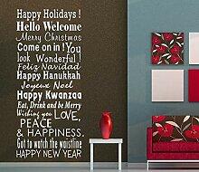 XCSJX Frohe Feiertage Gruß Zitate Weihnachten