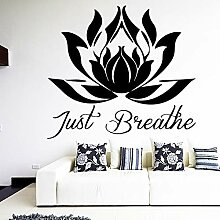 XCSJX Geschnitzter Lotus Art Aufkleber