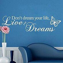 XCSJX Große Familie Süße Familie Traum Zitat