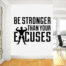 XCSJX Gym Wandtattoos stärker zu Sein Ausreden