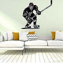 XCSJX Hockey Wandaufkleber Wandaufkleber Aufkleber
