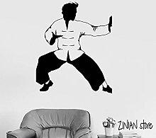 XCSJX Kung Fu Wandtattoo Kämpfer orientalische