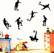 XCSJX Lustige Spielen Fußball Vinyl Wandaufkleber