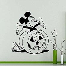 XCSJX Maus Wandaufkleber Cartoon Halloween