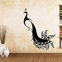 XCSJX Modische Pfau Wandaufkleber Wandkunst