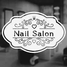 XCSJX Nagel Salon Nagel Salon Wand Zitat