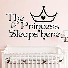 XCSJX Nette Zitat Prinzessin schläft Hier Kinder